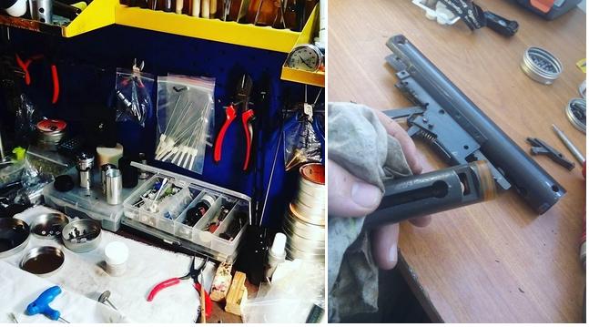 мастерская по ремонту пневматических пистолетов