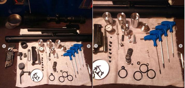 разобранная для ремонта pcp винтовка