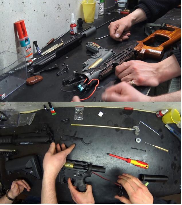 ремонт страйкбольных приводов